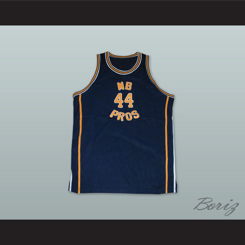 1970 MB PROS 44 Dark Blue Basketball Jersey - borizcustom - 1