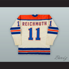 1972-75 WHA Craig Reichmuth 11 New York Raiders White Hockey Jersey