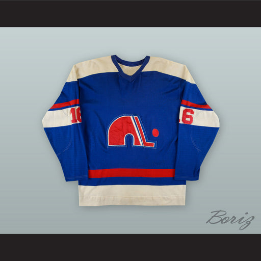 1973-74 WHA Andre Gaudette 16 Quebec Nordiques Blue Hockey Jersey 3cdf8a045