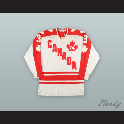1974 WHA J.C. Tremblay 3 Team Canada White Hockey Jersey