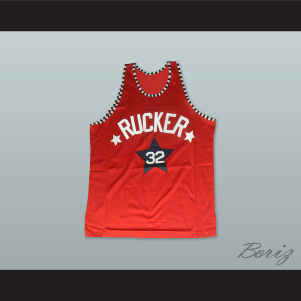 1975 Rucker Park NYC 32 Red Basketball Jersey - borizcustom - 1