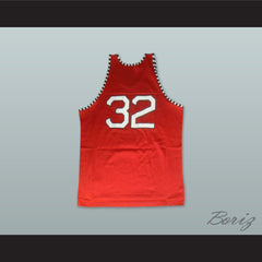 1975 Rucker Park NYC 32 Red Basketball Jersey - borizcustom - 2