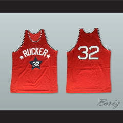 1975 Rucker Park NYC 32 Red Basketball Jersey - borizcustom - 3