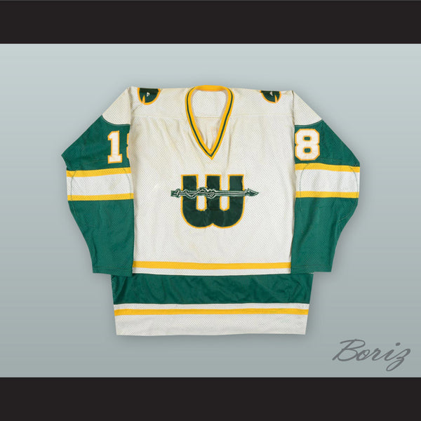 official photos 660a4 9a73b 1978-79 WHA Marty Howe 18 New England Whalers White Hockey Jersey