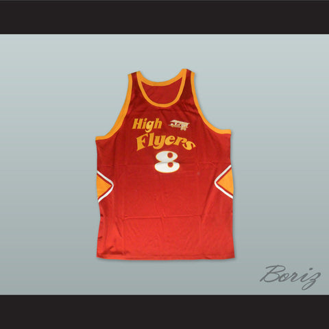 1978 High Flyers 8 Red Basketball Jersey - borizcustom - 1