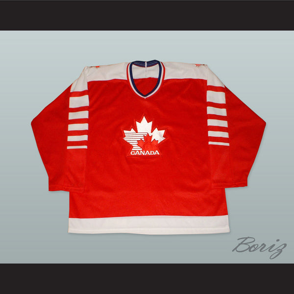 1982 Canada Hockey Jersey with Embroidered Patches - borizcustom - 1