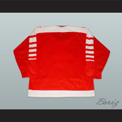 1982 Canada Hockey Jersey with Embroidered Patches - borizcustom - 2
