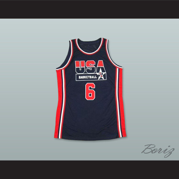 1992 Patrick Ewing 6 USA Team Away Basketball Jersey - borizcustom - 1