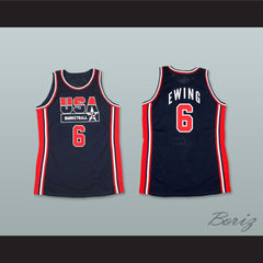 1992 Patrick Ewing 6 USA Team Away Basketball Jersey - borizcustom - 3