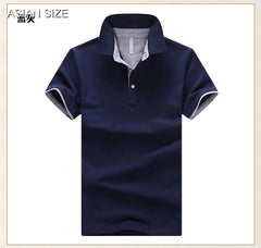 2017 Summer solid breathable 95% cotton slim Short Sleeve homme plus size 3XL 4XL Brand Mens Polo Shirt
