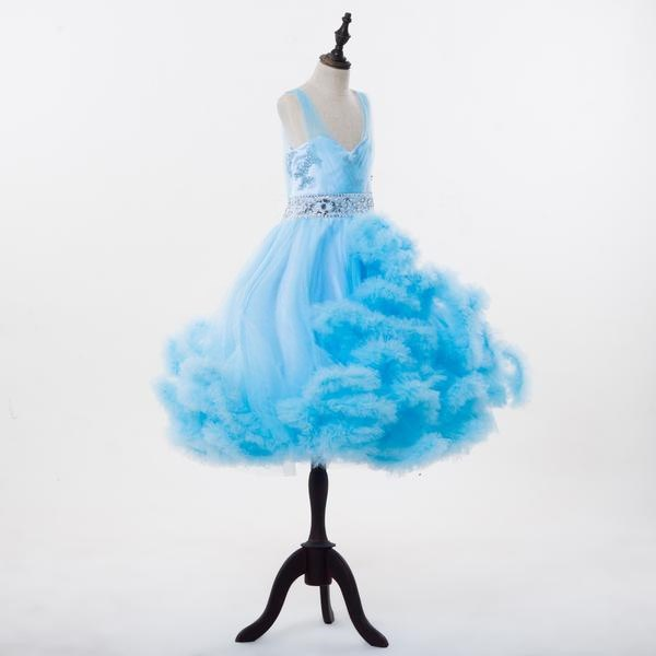 2018 Rushed Girls Pageant Dresses Cloud FlowerGirl Dresses Baby Cloudy  Puffy Ball Gown Dress Plus Size Custom Made HTA0001
