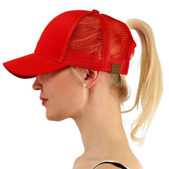 2018 Summer CC Glitter Ponytail Baseball Cap Dad Hats for Women Hip Hop Caps Messy Bun Cotton Sports Mesh Trucker Hat