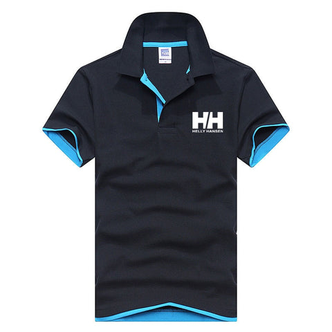 2019 New Fashion Helly Hansen Printed Men Polo Shirt Lapel Collar Slim Fit Tops Casual Classic Male Brand Polos Shirts