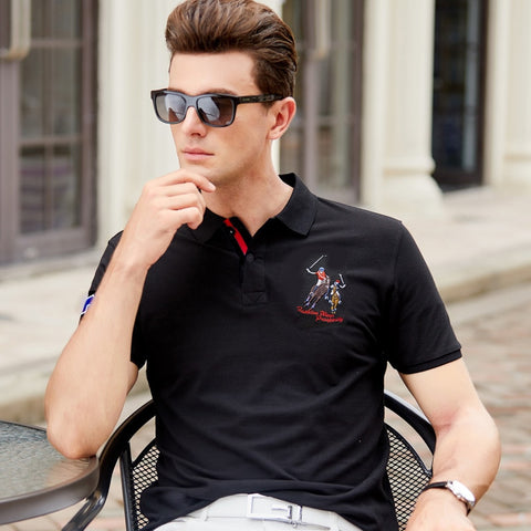 2019 camisa homme New Men's Polo Shirt High Quality Cotton Short Sleeve Summer Solid Male Casual Business Menswear Plus Size