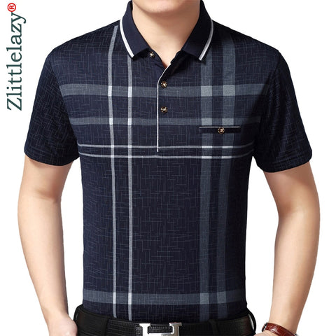 2019 hot real pocket bodybuilding short sleeve polo shirt men plaid polos summer pol tee shirts mens dress poloshirt jersey 1398