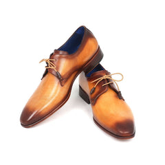 Paul Parkman Men's Brown & Camel  Derby Shoes (ID#326-CML)