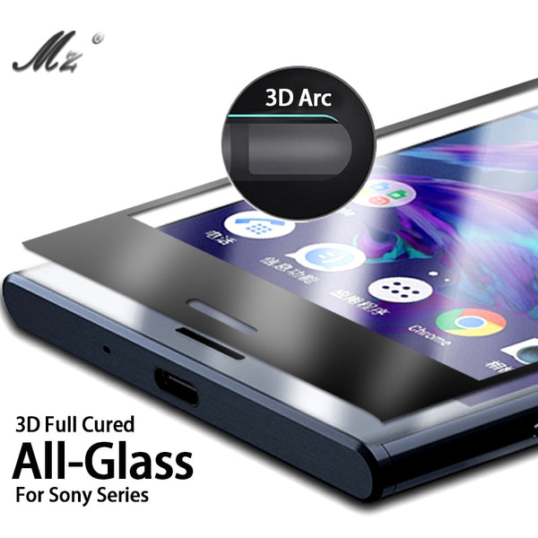 3D Full Coverage Tempered Glass For Sony XA1 Plus XA2 Ultra XA 2 XZ Premium X Compact X Z G3412 H4133 Screen Protector Film Case