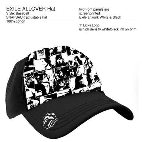 Rolling Stones | Exile Allover Album Baseball Hat