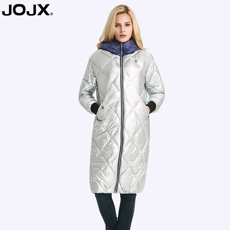 4fc758388 JOJX 2017 High Quality Ladies Winter Jacket Women Long Thickening hooded  Coat Overcoat Fashion Loose down jacket coat Brand