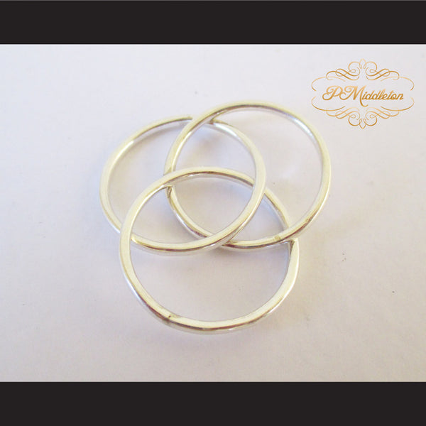 P Middleton Triple Intercross Vesica Piscis Ring Sterling Silver 92.5% - borizcustom