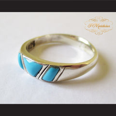 P Middleton Triple Turquoise Ring Sterling Silver 925 - borizcustom - 2