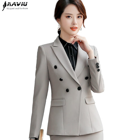 08c39116d Spring New Business blazer women fashion clothes formal Interview long  sleeve slim jacket office lady work