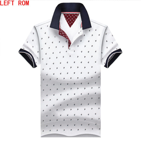 2018New Brand Polos Mens Printed POLO Shirts 100% Cotton Short Sleeve Camisas Polo Casual Stand Collar Male Polo Shirt S-4XL