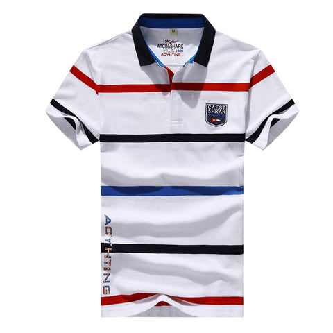 2018 new summer men's Korean POLO shirt / male stripes Slim fits Polo shirt short-sleeve casual tops