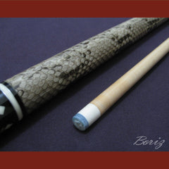 Boriz Billiards Laminated Snake Skin Grip Pool Cue Stick Original Inlays New - borizcustom
