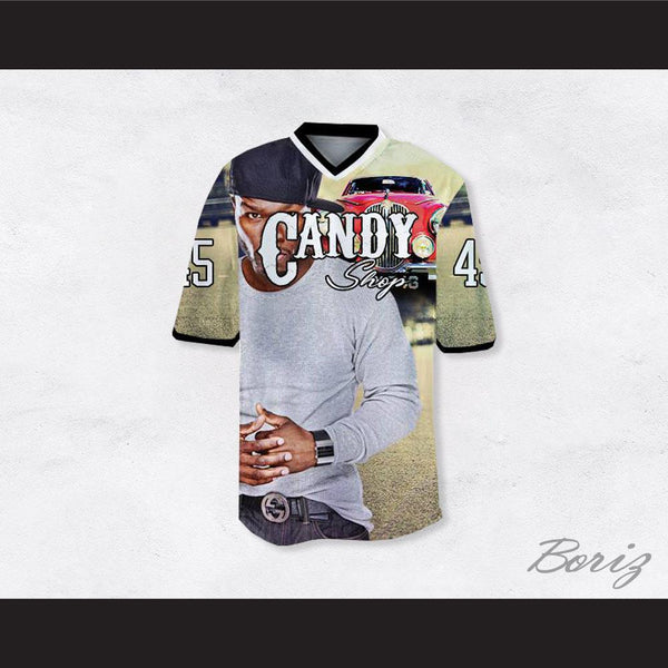 50 Cent 45 Candy Shop Luxury Car Football Jersey