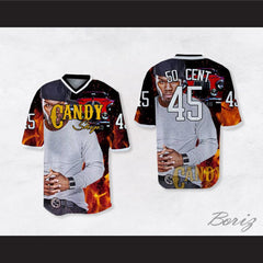 50 Cent 45 Candy Shop Hot Luxury Car Football Jersey