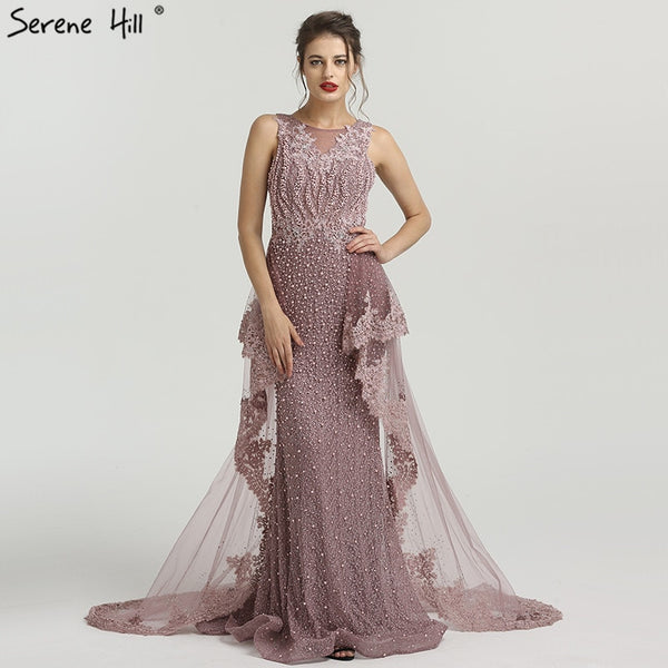 952b5e46dc1 ... New Mermaid Sleeveless Sexy Evening Dresses Pearls Fashion Off Shoulder Evening  Gowns 2018 Serene Hill LA6527 ...
