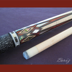 Boriz Billiards Linen Grip Pool Cue Stick Original Inlays New - borizcustom