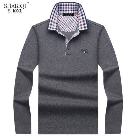 Autumn and winter Brand New Polo Shirt Men's Fashion Men's Polo Shirt Long Sleeve Casual Shirts Plus Size Men's S-10XL shirts
