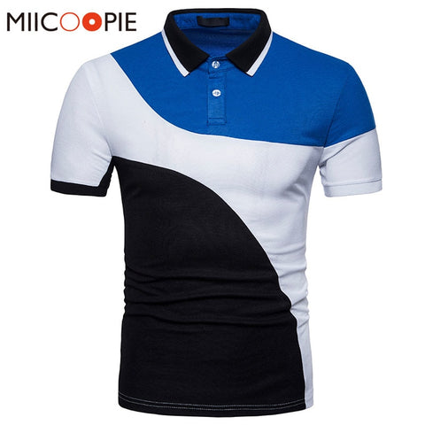 Brand Clothing Summer Men Polos Homme Solid British Polo Shirts Casual Cotton Arc Contrast Color Slim Fit Men Tee Shirt Tops