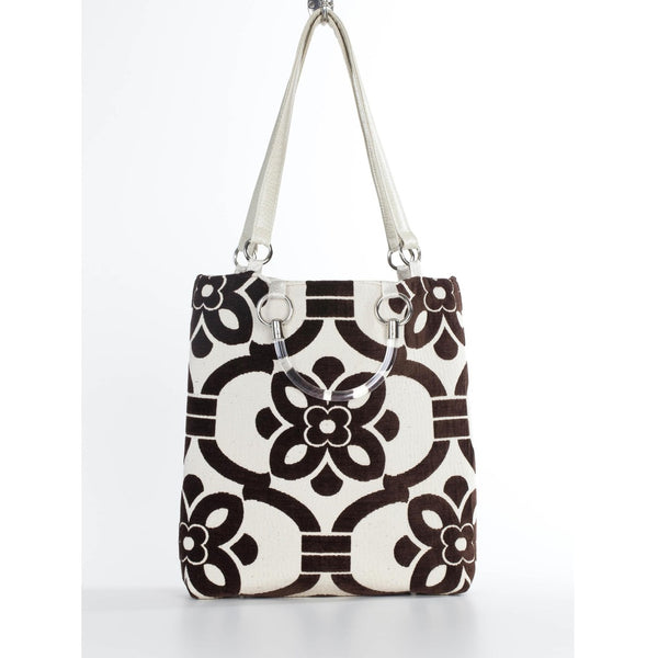 Stencil Brown Large Tote