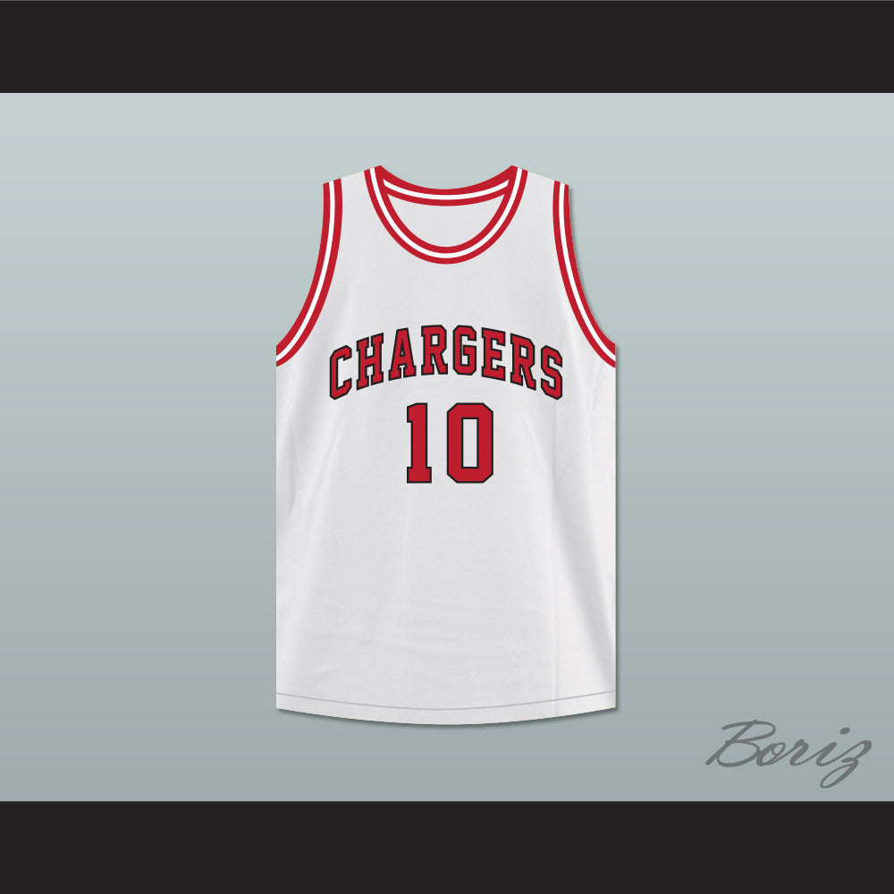 Arthur Agee 10 Chargers High School White Basketball