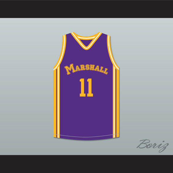 Arthur Agee 11 John Marshall Metropolitan High School Commandos Purple Basketball Jersey Hoop Dreams - borizcustom