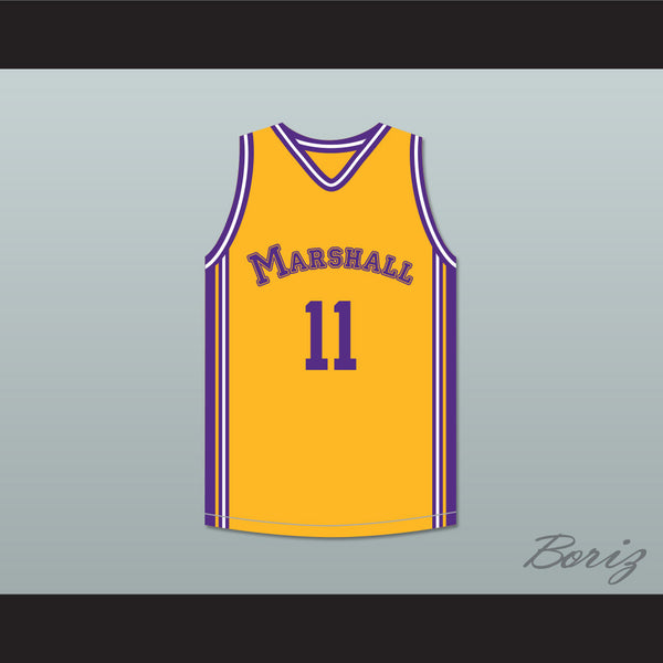 Arthur Agee 11 John Marshall Metropolitan High School Yellow Basketball Jersey Hoop Dreams - borizcustom