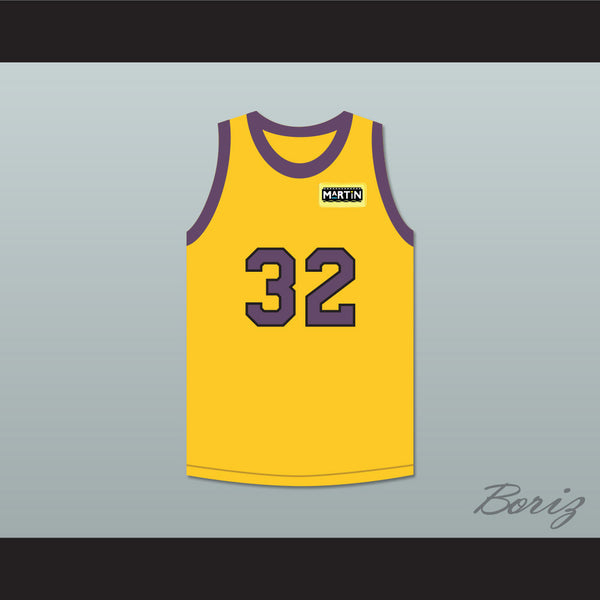 Air Gordon 32 Yellow Basketball Jersey with Martin Patch - borizcustom - 1
