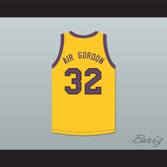 Air Gordon 32 Yellow Basketball Jersey with Martin Patch - borizcustom - 2