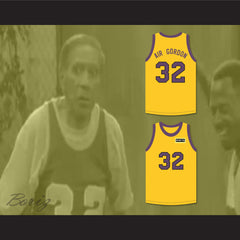 Air Gordon 32 Yellow Basketball Jersey with Martin Patch - borizcustom - 3