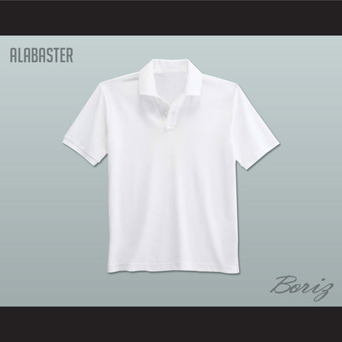Men's Solid Color Alabaster Polo Shirt - borizcustom
