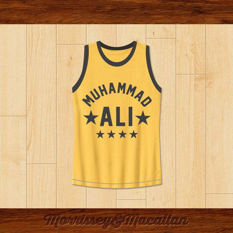 Boxer Muhammad Ali Basketball Jersey Quote by Morrissey&Macallan - borizcustom