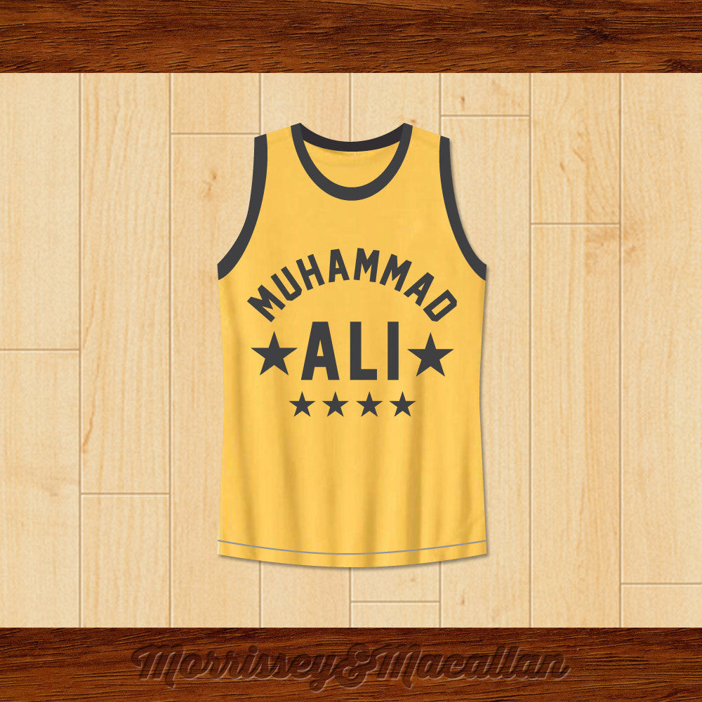 Boxer Muhammad Ali Basketball Jersey G O A T  by Morrissey&Macallan