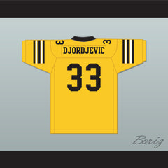Stefen Djordjevic 33 Ampipe High School Bulldogs Football Jersey All The Right Moves - borizcustom - 2