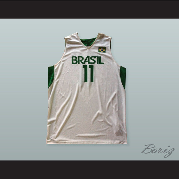 Anderson Varejao 11 Brazil Basketball Jersey with Patch
