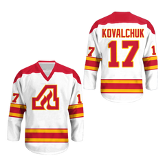 Atlanta Flames  Hockey Jersey Any Player or Number Stitch Sewn Colors