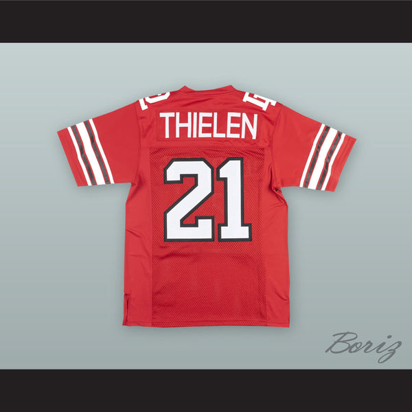 new concept 02c76 d394a Adam Thielen 21 Detroit Lakes High School Lakers Red Football Jersey