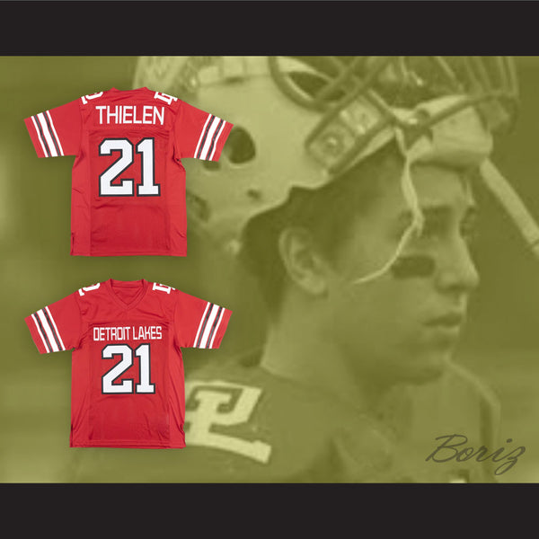 new concept a4c4c 03f26 Adam Thielen 21 Detroit Lakes High School Lakers Red Football Jersey